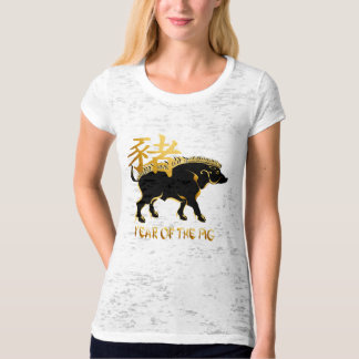 Year Of The Pig-Black Boar Symbol Shirts