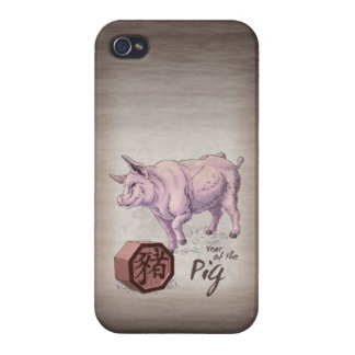 Year of the Pig (Boar) Chinese Zodiac Art Cover For iPhone 4