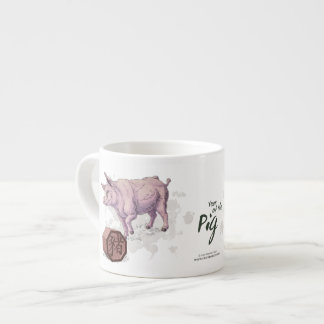 Year of the Pig (Boar) Chinese Zodiac Art Espresso Cup