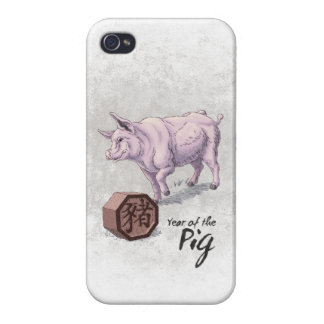 Year of the Pig (Boar) Chinese Zodiac Art iPhone 4/4S Cover