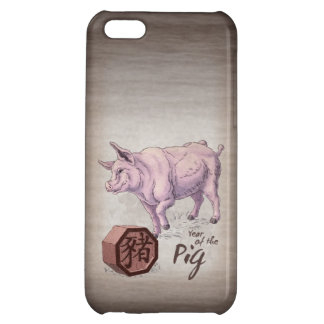 Year of the Pig (Boar) Chinese Zodiac Art iPhone 5C Cases