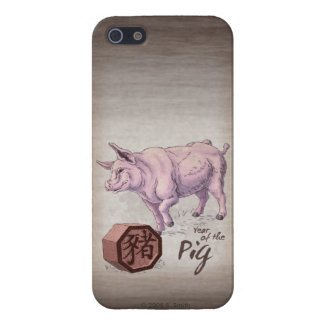 Year of the Pig (Boar) Chinese Zodiac Art iPhone SE/5/5s Case