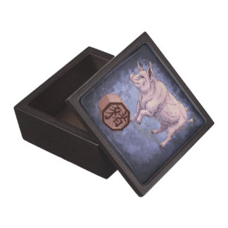 Year of the Pig Chinese Zodiac Animal Premium Keepsake Boxes