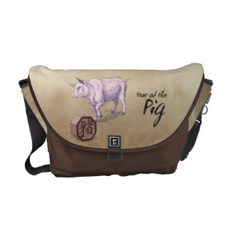 Year of the Pig Chinese Zodiac Messenger Bag