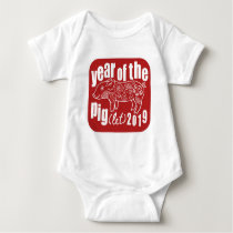 Year of the Pig(let) 2019 Baby Bodysuit