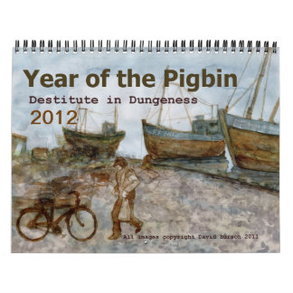 Year of the Pigbin 2012 Calendar