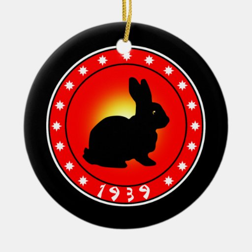 Year of the Rabbit 1939 Christmas Ornament