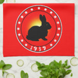 Year of the Rabbit 1939 Hand Towel