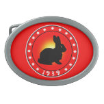 Year of the Rabbit 1939 Oval Belt Buckles