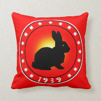 Year of the Rabbit 1939 Pillow