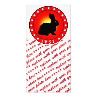 Year of the Rabbit 1951 Photo Card Template