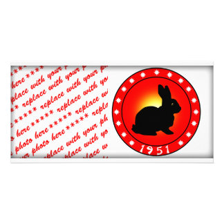Year of the Rabbit 1951 Personalized Photo Card