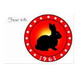 Year of the Rabbit 1963 Business Card Template