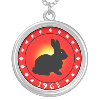 Year of the Rabbit 1963 Round Pendant Necklace