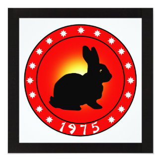 Year of the Rabbit 1975 Card