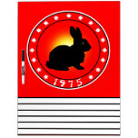 Year of the Rabbit 1975 Dry Erase Whiteboard