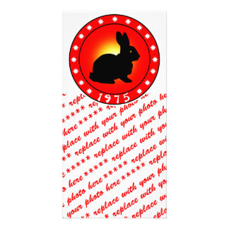 Year of the Rabbit 1975 Personalized Photo Card
