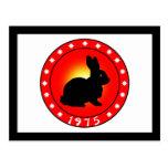 Year of the Rabbit 1975 Postcard