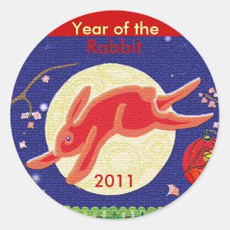 Year of the Rabbit 2011 Classic Round Sticker