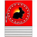 Year of the Rabbit 2011 Dry-Erase Whiteboards