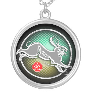 year of the rabbit 2011 round pendant necklace
