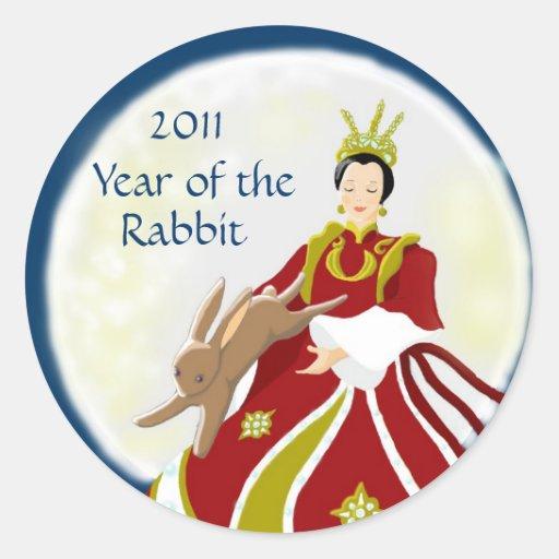 Year of the Rabbit 2011 Round Stickers