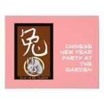 "Year of the Rabbit 4.25"" X 5.5"" Invitation Card"