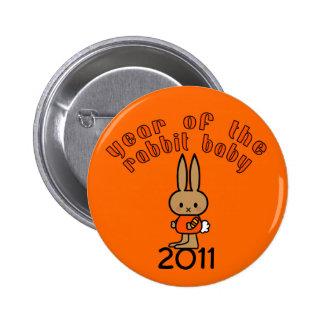 Year of the Rabbit Baby Custom Gifts Buttons