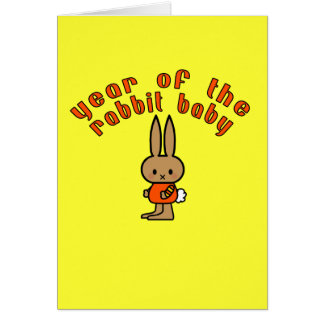 Year of the Rabbit Baby Custom Gifts Greeting Card