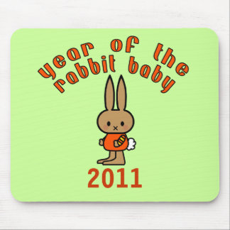Year of the Rabbit Baby Custom Gifts Mouse Pad