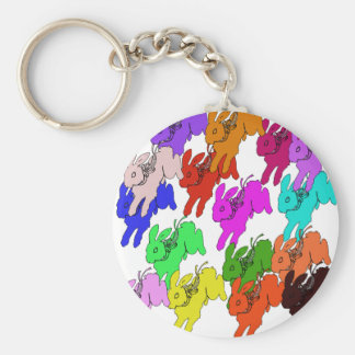Year of the Rabbit Basic Round Button Keychain