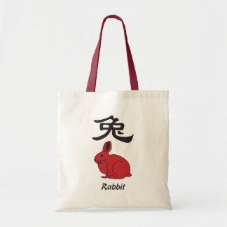year of the rabbit budget tote bag