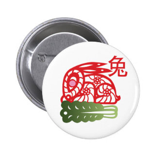 Year of the Rabbit Button