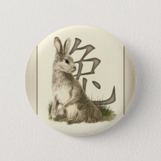 Year Of The Rabbit Chinese New Year Pinback Button