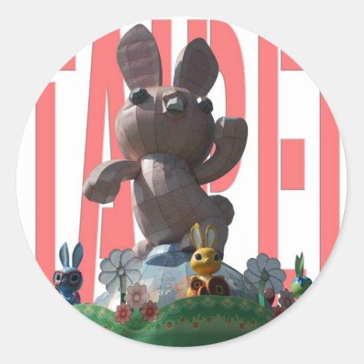 Year of the rabbit, Chinese New Year Round Sticker
