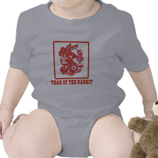 Year of the Rabbit Chinese Paper Cut Art Tees