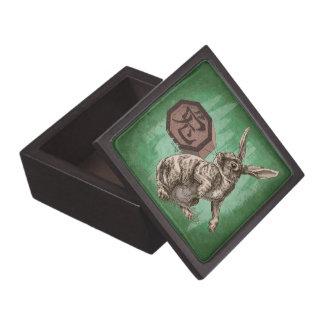 Year of the Rabbit Chinese Zodiac Animal Premium Jewelry Box