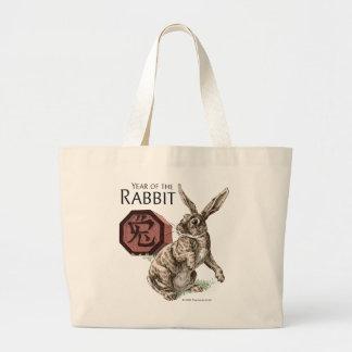 Year of the Rabbit Chinese Zodiac Art Jumbo Tote Bag