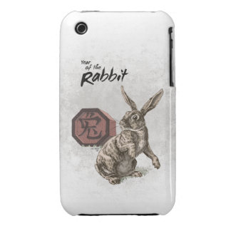 Year of the Rabbit Chinese Zodiac Art iPhone 3 Case-Mate Case