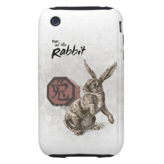 Year of the Rabbit Chinese Zodiac Art Tough iPhone 3 Cases