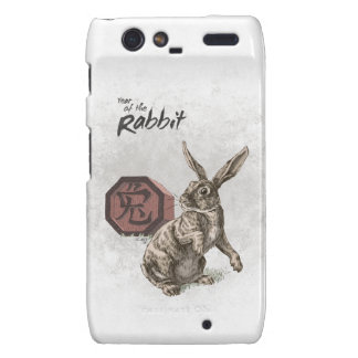 Year of the Rabbit Chinese Zodiac Art Motorola Droid RAZR Case