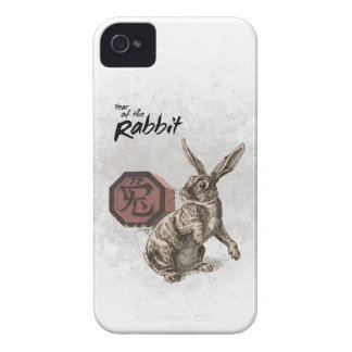 Year of the Rabbit Chinese Zodiac Art iPhone 4 Case