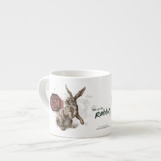 Year of the Rabbit Chinese Zodiac Art Espresso Cup