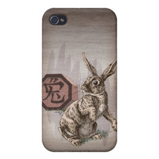 Year of the Rabbit Chinese Zodiac Art iPhone 4 Cover