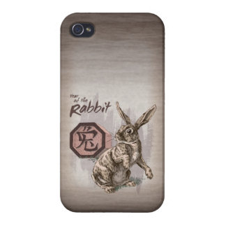 Year of the Rabbit Chinese Zodiac Art Case For iPhone 4