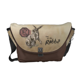 Year of the Rabbit Chinese Zodiac Art Courier Bags