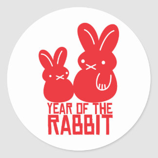 Year of the rabbit classic round sticker