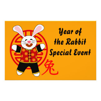 Year of the Rabbit Flyer Design