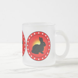 Year of the Rabbit Frosted Glass Coffee Mug