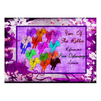 Year of The Rabbit Large Business Card